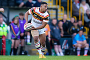 Bradford Bulls prop Jon Magrin (15) in action  during the Kingstone Press Championship match between Dewsbury Rams and Bradford Bulls at the Tetley's Stadium, Dewsbury, United Kingdom on 4 June 2017. Photo by Simon Davies.