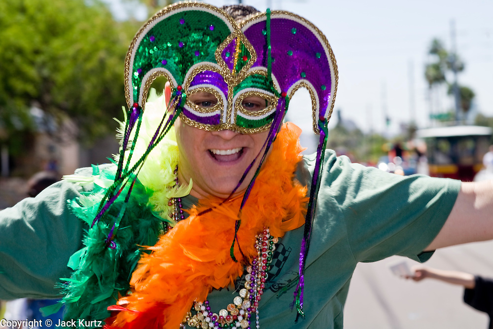 14 APRIL 2007 -- PHOENIX, AZ: A participant in the annual Gay Pride Parade in Phoenix, AZ. Thousands of people attended the annual event. Photo by Jack Kurtz / ZUMA Press