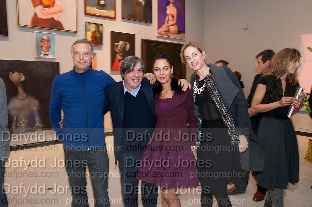 PETER FLEISSIG; ; GEORGE CONDO; ANNA CONDO; BRADY DOTY, George Condo: Mental States. Hayward Gallery. Southbank Rd. London. 17 October 2011. <br /> <br />  , -DO NOT ARCHIVE-© Copyright Photograph by Dafydd Jones. 248 Clapham Rd. London SW9 0PZ. Tel 0207 820 0771. www.dafjones.com.