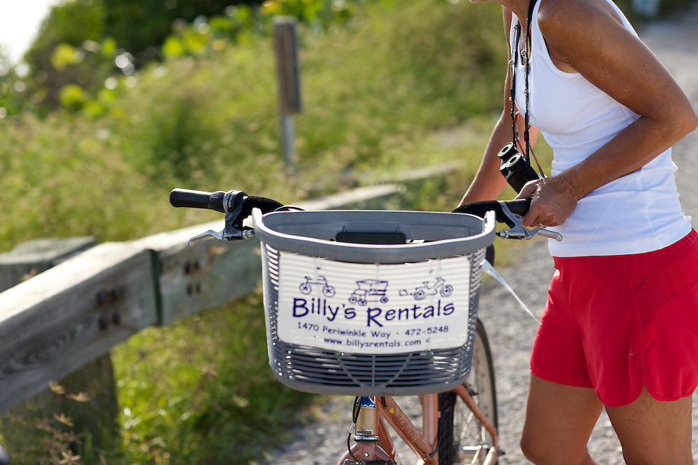 Renting Bicycles is popular with tourists on Sanibel Island, Fl.  Bike paths and trails cover the island including Ding Darling Wildlife Refuge.