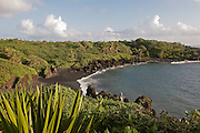 Wainapanapa, Black Sand Beach, Hana Coast, Maui, Hawaii