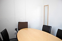 Empty conference room in television studio