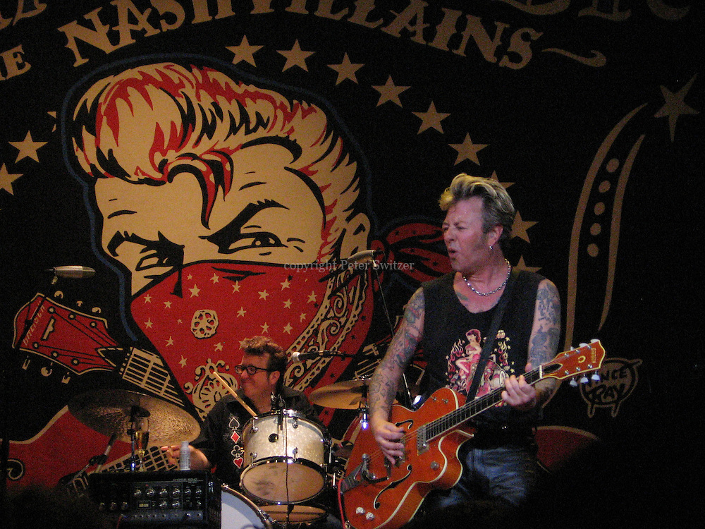 The Nashvillians with rockabilly giant Brian Setzer rocked the new year in lighting the crowd on fire delivering a searing performance as a prototype band playing live together for the first time New Years Eve at The House of Blues in Anaheim, Ca. December 31, 2005.