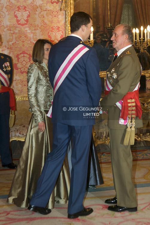 Madrid. (06/07/2008). Palacio Real de Madrid. Pascua Militar presidida por S.M. el Rey D. Juan Carlos I, S.M. DÒa. Sofia, y los Principes de Asturias, S.A.R. D. Felipe de Borbon y DÒa. Letizia Ortiz.