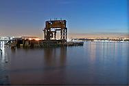 Hudson River, Gantry, Riverside Park, Riverside South, West Side Highway,  Manhattan, New York City, New York