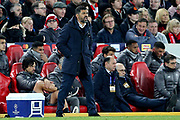 FC Porto Manager Sergio Conceicao shouts out instructions  during the Champions League Quarter-Final Leg 1 of 2 match between Liverpool and FC Porto at Anfield, Liverpool, England on 9 April 2019.