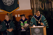 First annual celebration of academic excellence on January 17, 2006..All associated events on January 17, 2006 will be held at the Margaret M. Walter Hall Rotunda as follows..9:00 a.m.       All participating faculty, staff and students will meet in the Governance Room, Walter.                      Hall, for robing to prepare for the procession..10:00 a.m.     Celebration program will begin in the Rotunda..11:00 a.m.     The celebration will draw to a close.  All those participating in the event may join the.                       reception to be held in the Walter Hall atrium and hallway..7:30 p.m.       The Distinguished Professor Lecture by Gar Rothwell (2004) and David Drabold (2005),