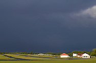 Middletown, New York - A summer thunderstorm approaches on July 7, 2014.
