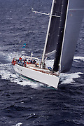 Visione sailing in the St. Barth's Bucket Regatta, day three.