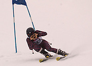First overall in the boys giant slalom individual competition, Ryan Grenberg of Ironwood makes his first of two giant slalom runs at Boyne Highlands Resort in Harbor Springs at the Division 2 State Ski Finals.