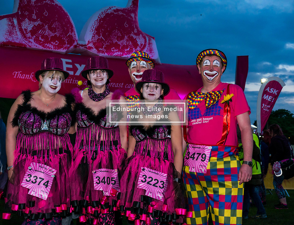 Pictured: Moonwalk Scotland, Edinburgh, Scotland, United Kingdom, 08 June 2019. The 14th Moonwalk Scotland 'Walk the Walk' night-time event with several thousand participants wearing specially decorated bras choose between New Moon (6.55 Miles), Half Moon Marathon (13.1 Miles), Full Moon Marathon (26.2 miles) and Over The Moon (52.4 Miles) to raise money and awareness for breast cancer causes.<br /> <br /> Sally Anderson   EdinburghElitemedia.co.uk