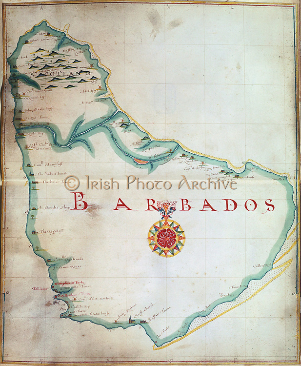 Map of Barbados, 1683. British Museum