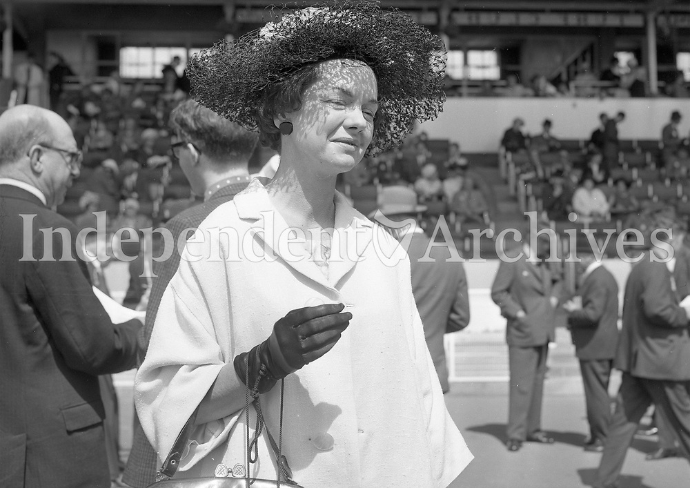 A lady pictured at an event in 1964, location unknown.<br />