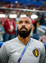 July 10, 2018 - SãO Petersburgo, Rússia - SÃO PETERSBURGO, MO - 10.07.2018: FRANÇA X BÉLGICA - Former player Thierry Henry and Belgium coach prior to match between France and Belgium valid for the semi-final of the 2018 World Cup held at the Krestovsky Stadium in St Petersburg, Russia. (Credit Image: © Marcelo Machado De Melo/Fotoarena via ZUMA Press)