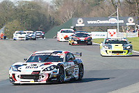 #56 David Pattison/Luke Davenport - Tolman Motorsport, G55 Ginetta GT4, PRO/AM during British GT Championship race two as part of the British GT Championship at Oulton Park, Little Budworth, Cheshire, United Kingdom. April 06 2015. World Copyright Peter Taylor/PSP. Copy of publication required for printed pictures.  Every used picture is fee-liable. <br /> http://archive.petertaylor-photographic.co.uk