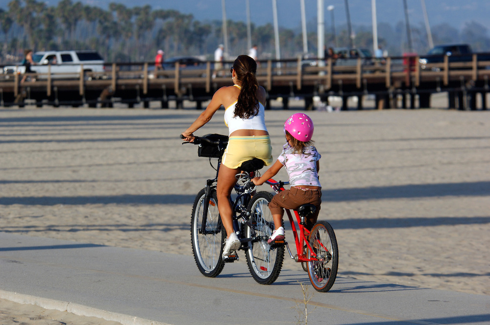Bicycle riders at Waterfront, Santa Barbara, California, United States of America