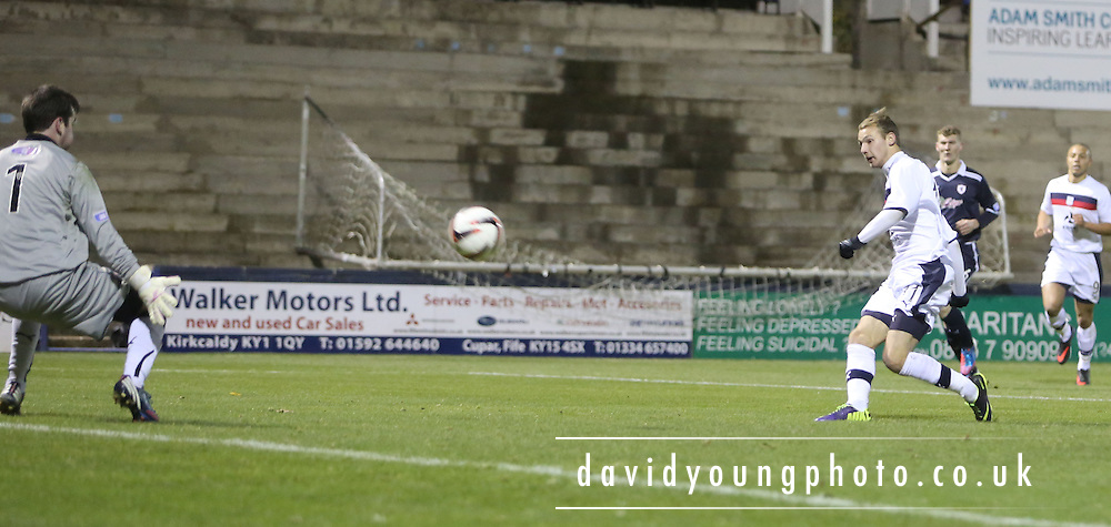 Martin Boyle shot which hit bar - Raith Rovers v Dundee, SPFL Reserve League at Starks Park<br /> <br />  - &copy; David Young - www.davidyoungphoto.co.uk - email: davidyoungphoto@gmail.com