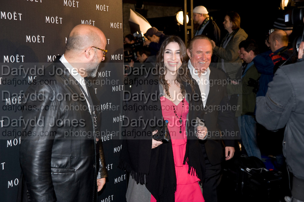 Andrew Neil; Victoria Clook, A Tribute to Cinema party given by Moet and Chandon.Big Sky Studios, Brewery Rd. London.  24 March 2009 *** Local Caption *** -DO NOT ARCHIVE-© Copyright Photograph by Dafydd Jones. 248 Clapham Rd. London SW9 0PZ. Tel 0207 820 0771. www.dafjones.com.<br /> Andrew Neil; Victoria Clook, A Tribute to Cinema party given by Moet and Chandon.Big Sky Studios, Brewery Rd. London.  24 March 2009