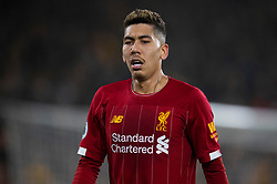 WOLVERHAMPTON, ENGLAND - Thursday, January 23, 2020: Liverpool's Roberto Firmino during the FA Premier League match between Wolverhampton Wanderers FC and Liverpool FC at Molineux Stadium. (Pic by David Rawcliffe/Propaganda)
