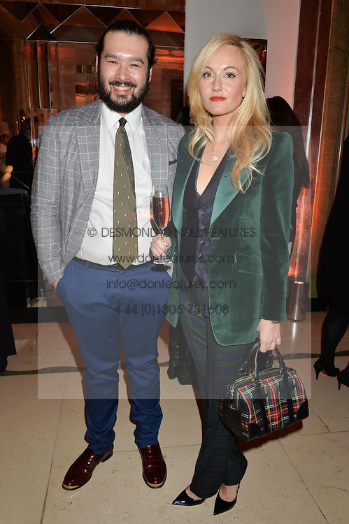 ALAN SEYMOUR and SARAH ANN MURRAY at a reception hosted by The Rake Magazine and Claridge's to celebrate London Collections 2015 held at Claridge's, Brook Street, London on 8th January 2015.