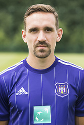 July 11, 2017 - Brussels, BELGIUM - Anderlecht's Sven Kums poses for photographer at the 2017-2018 season photo shoot of Belgian first league soccer team RSC Anderlecht, Tuesday 11 July 2017 in Brussels. BELGA PHOTO LAURIE DIEFFEMBACQ (Credit Image: © Laurie Dieffembacq/Belga via ZUMA Press)