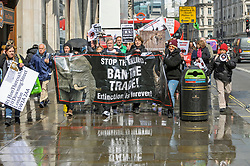The Born Free Foundation held a demo in central London to protest trophy hunting. The group marched from Cavendish Square to Downing street where a letter was handed over.<br /> <br /> Richard Hancox   EEm 13042019