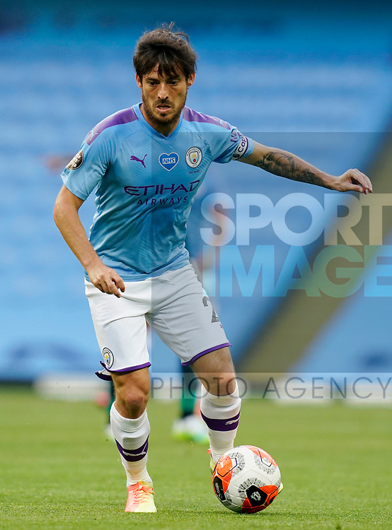 David Silva of Manchester City during the Premier League match at the Etihad Stadium, Manchester. Picture date: 22nd February 2020. Picture credit should read: Andrew Yates/Sportimage