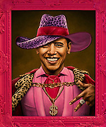 Dec. 3, 2013 - Miami Beach, Florida, U.S. - <br /> <br /> Art depicting Barack Obama by Scott Scheidly is exhibited at SCOPE, one of dozens of satellite shows and fairs that are mounted contemporaneously each year with Art Basel Miami Beach. <br /> ©Exclusivepix