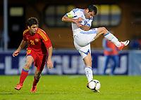 Fotball , 31. mai 2012<br /> Armenia - Hellas<br /> Bild zeigt Davit Manoyan (ARM) und Georgios Karagkounis (GRE).<br /> Norway only