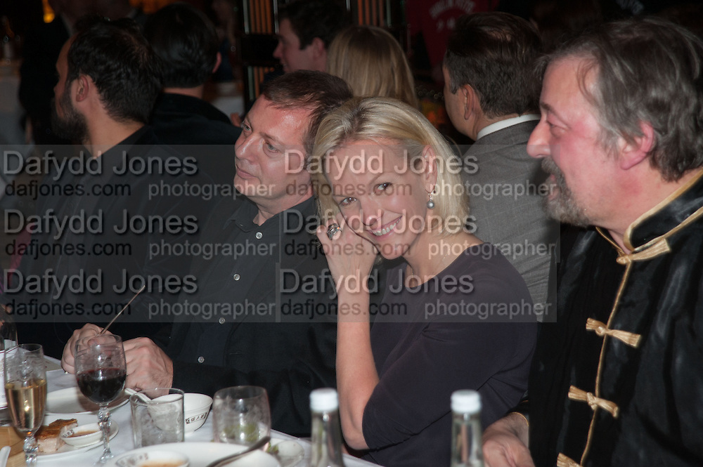MATTHEW FREUD; ELIZABETH MURDOCH; STEPHEN FRY, Chinese New Year dinner given by Sir David Tang. China Tang. Park Lane. London. 4 February 2013.