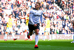 Martyn Waghorn of Derby County celebrates his opening goal - Mandatory by-line: Ryan Crockett/JMP - 30/03/2019 - FOOTBALL - Pride Park Stadium - Derby, England - Derby County v Rotherham United - Sky Bet Championship