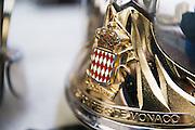 May 20-24, 2015: Monaco Grand Prix - Automobile Club de Monaco helmet detail