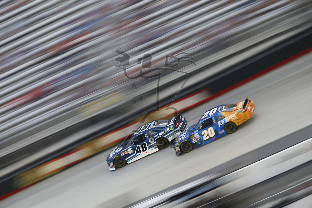 August 18, 2017 - Bristol, Tennessee, USA: Brennan Poole (48) battles for position during the Food City 300 at Bristol Motor Speedway in Bristol, Tennessee.