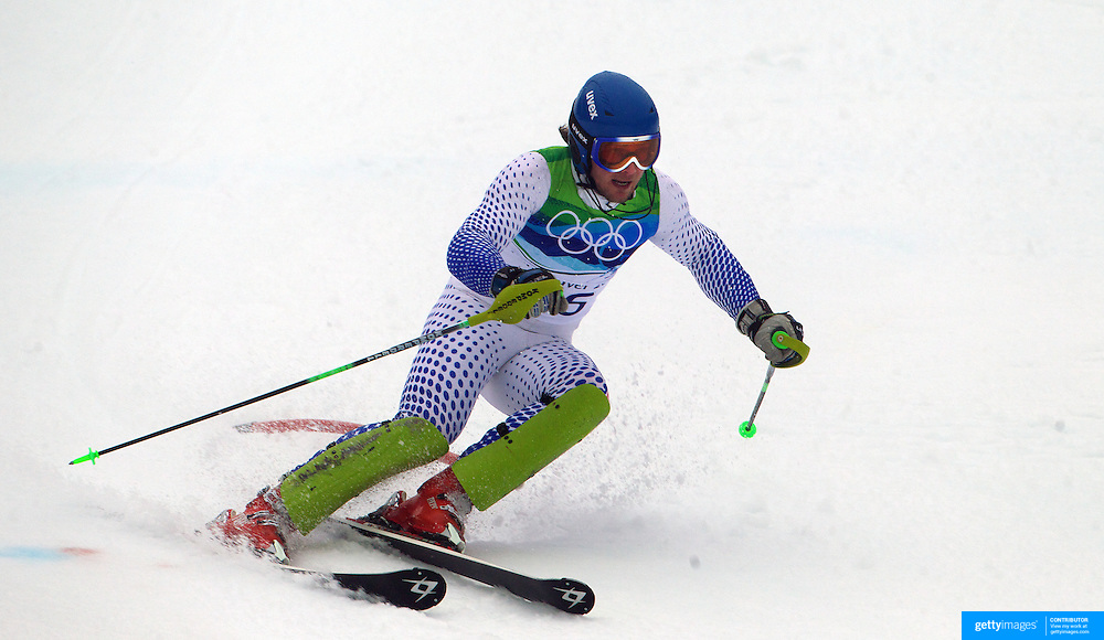 Winter Olympics, Vancouver, 2010. Jaroslav Babusiak, Slovakia, in action during the Alpine Skiing, Men's Slalom at Whistler Creekside, Whistler, during the Vancouver Winter Olympics. 27th February 2010. Photo Tim Clayton