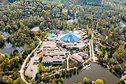 Nederland, Flevoland, Zeewolde, 01-05-2013;<br /> Vakantiepark De Eemhof van Center Parcs met accomodaties als zwembad en restaurants.<br /> Holiday park Center Parcs , restaurant and swimming pool.<br /> luchtfoto (toeslag op standard tarieven)<br /> aerial photo (additional fee required)<br /> copyright foto/photo Siebe Swart
