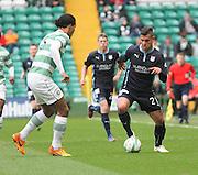 Dundee's Luka Tankulic runs at Celtic's Virgil van Dijk -  Celtic v Dundee - SPFL Premiership at Celtic Park<br /> <br /> <br />  - © David Young - www.davidyoungphoto.co.uk - email: davidyoungphoto@gmail.com