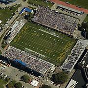 Aerial view of the Univ of Delaware Blue Hens Football  game Delaware State Hornets<br /> on September 19, 2009