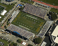 Aerial view of the Univ of Delaware Blue Hens Football  game Delaware State Hornets<br /> on September 19, 2009