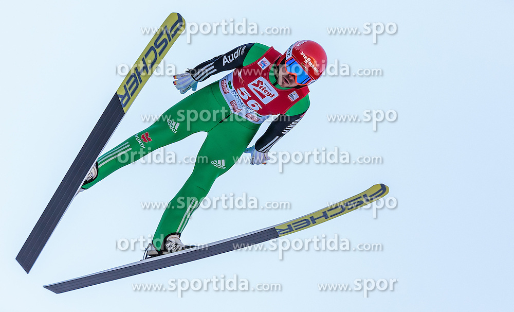 20.12.2015, Nordische Arena, Ramsau, AUT, FIS Weltcup Nordische Kombination, Skisprung, im Bild Fabian Riessle (GER) // Fabian Riessle of Germany during Skijumping Qualification of FIS Nordic Combined World Cup, at the Nordic Arena in Ramsau, Austria on 2015/12/20. EXPA Pictures © 2015, PhotoCredit: EXPA/ JFK