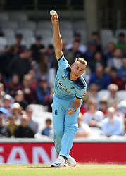 England's Tom Curran during the ICC Cricket World Cup Warm up match at The Oval, London.