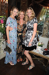 Left to right, the COUNTESS OF MORNINGTON, MARY GREENWELL and JODIE KIDD at a party hosted by the Supper Club in honour of Mary Greenwell held at Beach Blanket Babylon, Ledbury Road, London on 25th June 2008.<br /><br />NON EXCLUSIVE - WORLD RIGHTS