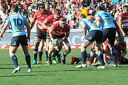 28-07-18 Emirates Airline Park, Johannesburg. Super Rugby semi-final Emirates Lions vs NSW Waratahs. 1st half. Lions captain no8 Warren Whiteley with prop Ruan Dreyer and lock Marvin Orie following.<br />  Picture: Karen Sandison/African News Agency (ANA)