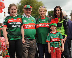 Mayo supporters from Aoibhe, Niall and Mary Dunne with Padraig and Carmel Kelly from Ballina on their way to the Gaelic grounds.<br />