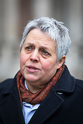 © Licensed to London News Pictures. 07/02/2018. London, UK. Solicitor Harriet Wistrich speaks to the media outside the High Court before the start of the John Worboys appeal hearing. Photo credit: Rob Pinney/LNP