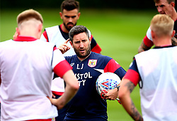 Bristol City head coach Lee Johnson talks to his players as Bristol City return to training ahead of their 2017/18 Sky Bet Championship campaign - Mandatory by-line: Robbie Stephenson/JMP - 30/06/2017 - FOOTBALL - Failand Training Ground - Bristol, United Kingdom - Bristol City Pre Season Training - Sky Bet Championship