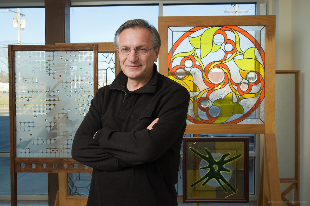 Yuriy Shevchenko of Glass Concept, an architectural and interior art glass design company, photographed Friday, Dec. 11, 2012 in Louisville, Ky. (Photo by Brian Bohannon/www.brianbohannon.com)