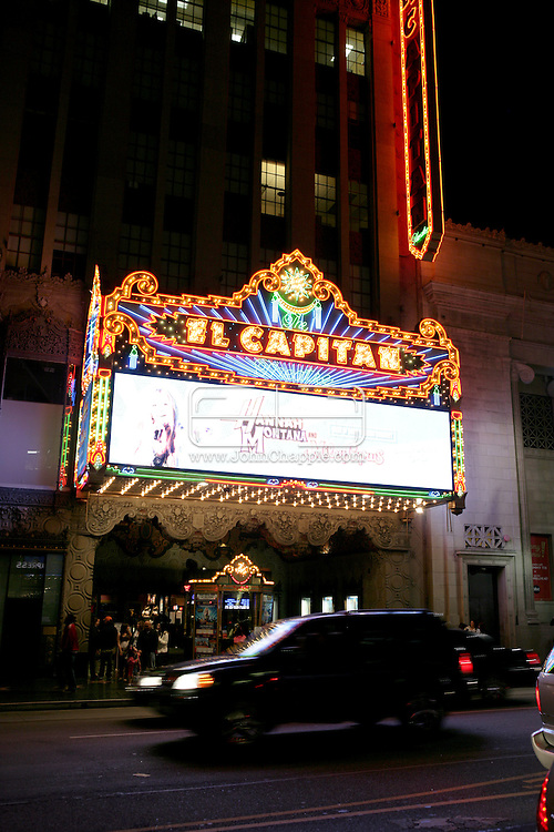 16th February 2008, Hollywood, California. The El Capitan Theatre on Hollywood Blvd. which opened in 1926..PHOTO © JOHN CHAPPLE / REBEL IMAGES.john@chapple.biz    www.chapple.biz
