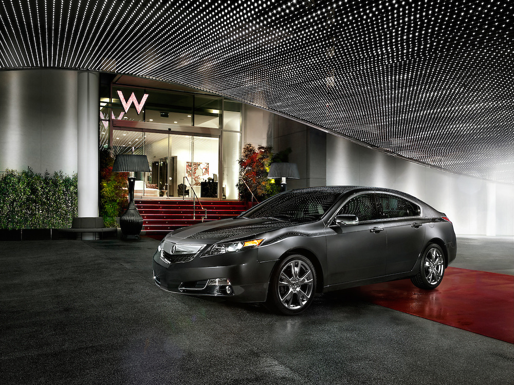 Acura at the entrance of the W Hotel in Hollywood, CA.
