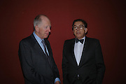 Lord Rothschild and Norman Kurland. Masterpieces of American Jewelry at the Gilbert Collection. Somerset House. 14 February 2005. ONE TIME USE ONLY - DO NOT ARCHIVE  © Copyright Photograph by Dafydd Jones 66 Stockwell Park Rd. London SW9 0DA Tel 020 7733 0108 www.dafjones.com