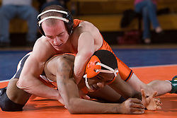 Virginia's Ross Gitomer defeated Campbell's Cranston Gittens by major decision (15-6) in the 125 lb weight class.  The Virginia Cavaliers defeated the Campbell Camels 48-0 in wrestling at the the University of Virginia's Memorial Gymnaisum  in Charlottesville, VA on February 2, 2008.